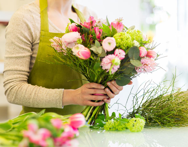 The inventory to carry in a flower shop